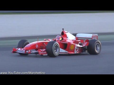 Ferrari F1 V8 and V10 PURE Sound!