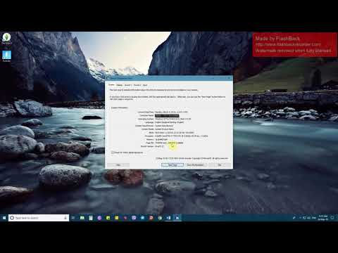 How to open dxdiag in Windows 10