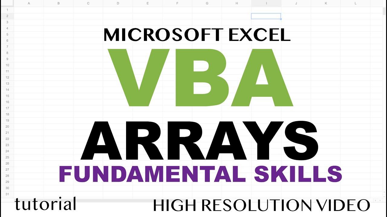 Excel VBA Arrays, Resize (ReDim, Preserve) Arrays, Create Functions That Return Dynamic Arrays