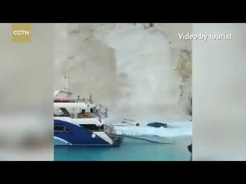 Tsunami Greece's Navagio resort island of Zakynthos.  Ambertracks Survival www.ambertracks.com