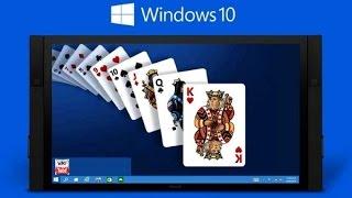 Как установить стандартные игры в Windows 10
