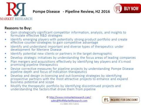 Pompe Disease Drugs and Companies Pipeline Review,H2 2016.