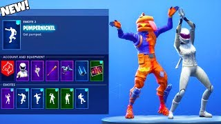 NEW! PUMPERNICKEL EMOTE Showcased with UNRELEASED SKINS! Fortnite Battle Royale