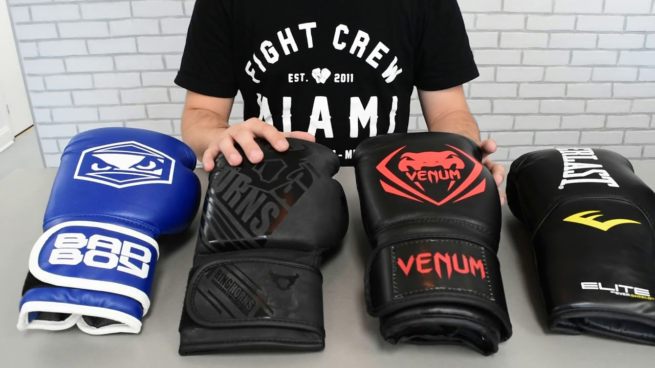 Review Top Boxing Gloves Under 40 Dollars Everlast Venum Ringhorn Badboy Youtube
