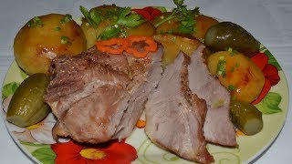 Свинина в рукаве в духовке с овощами. Вкусное блюдо из свинины, картофеля и моркови