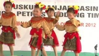 Tarian Banjar. TK Katolik Taman Harapan Batu Licin Kalsel.