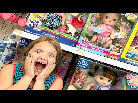Toy Shopping at Walmart for Baby Alive Sweet Tears Baby Doll