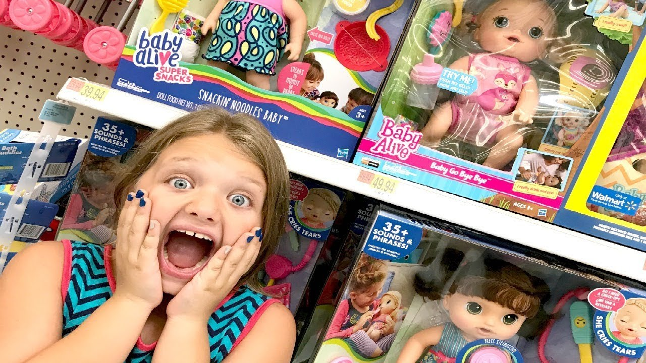 Toy Shopping At Walmart For Baby Alive Sweet Tears Baby