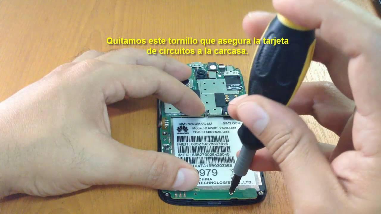 628ac7d2ad9 Como destapar celular Huawei y520 - YouTube