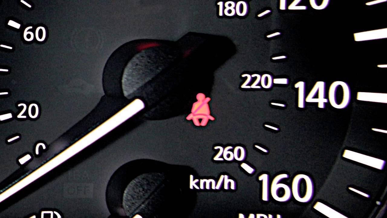 2013 Nissan Altima Sedan Seat Belt Warning Light And