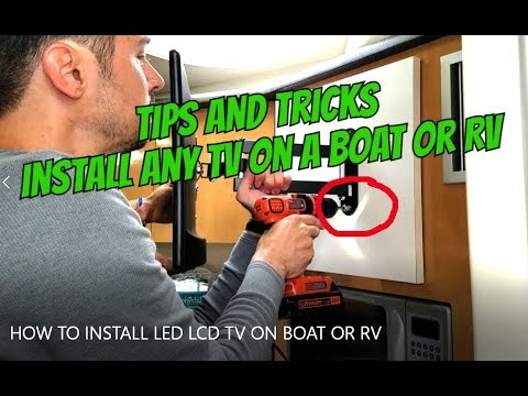 hqdefault how to install led lcd tv on mount in a boat rv without 12v tv