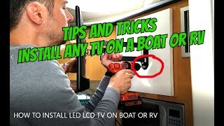 HOW TO INSTALL LED LCD TV ON MOUNT IN A BOAT OR RV, no 12v TV needed