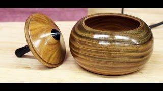 Woodturning a Lignum Vitae Top & Box