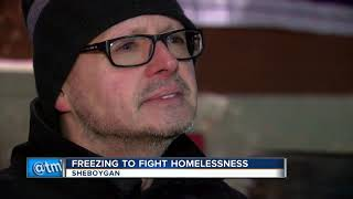 Man battles elements to fight homelessness