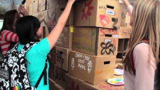 World's Largest Cardboard Box Castle - Byu