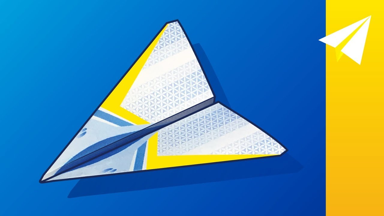 paper airplane with free template  u2014 how to fold stratus