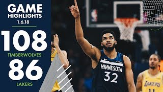 Full Game Highlights: Minnesota Timberwolves vs LA Lakers