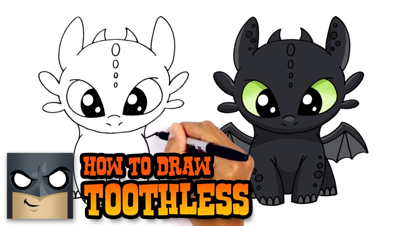 How to Draw Toothless  How to Train Your Dragon  YouTube
