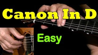 CANON In D by PACHELBEL: Easy Guitar Lesson + TAB by GuitarNick