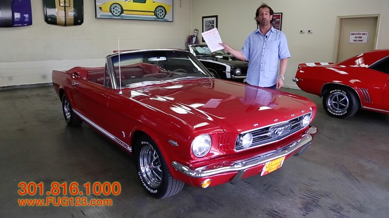 1966 mustang gt convertible for sale with test drive driving sounds and walk through video