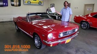 1966 Mustang GT Convertible for sale with test drive, driving sounds, and walk through video