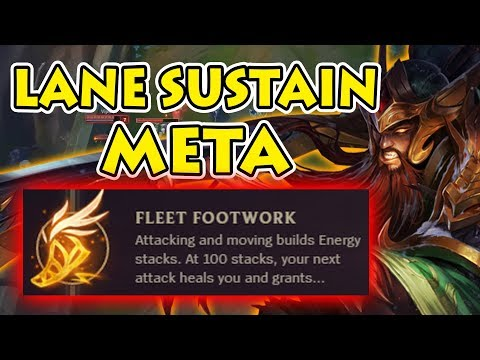 SUSTAIN THROUGH THE PAIN - Fleet Footwork: Ft. Top Lane Tryndamere Vs Gangplank [Patch 7.23]