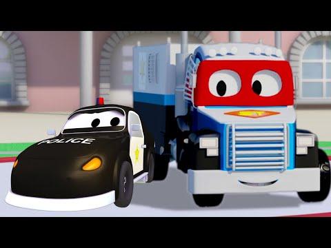Policejní auto - Supernáklaďák Karel ve Městě Aut 🚚 ⍟ Dětské animáky