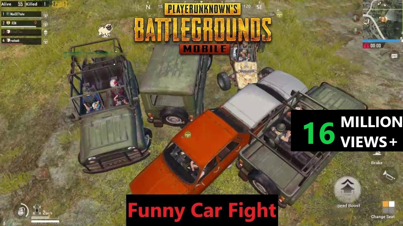 [Hindi] PUBG Mobile | Funny Melee Weapons & Car Fight