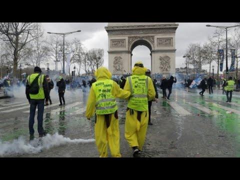 فرنسا: نهب وحرق في باريس إثر مظاهرات -السترات الصفراء- في أسبوعها 18  - نشر قبل 3 ساعة