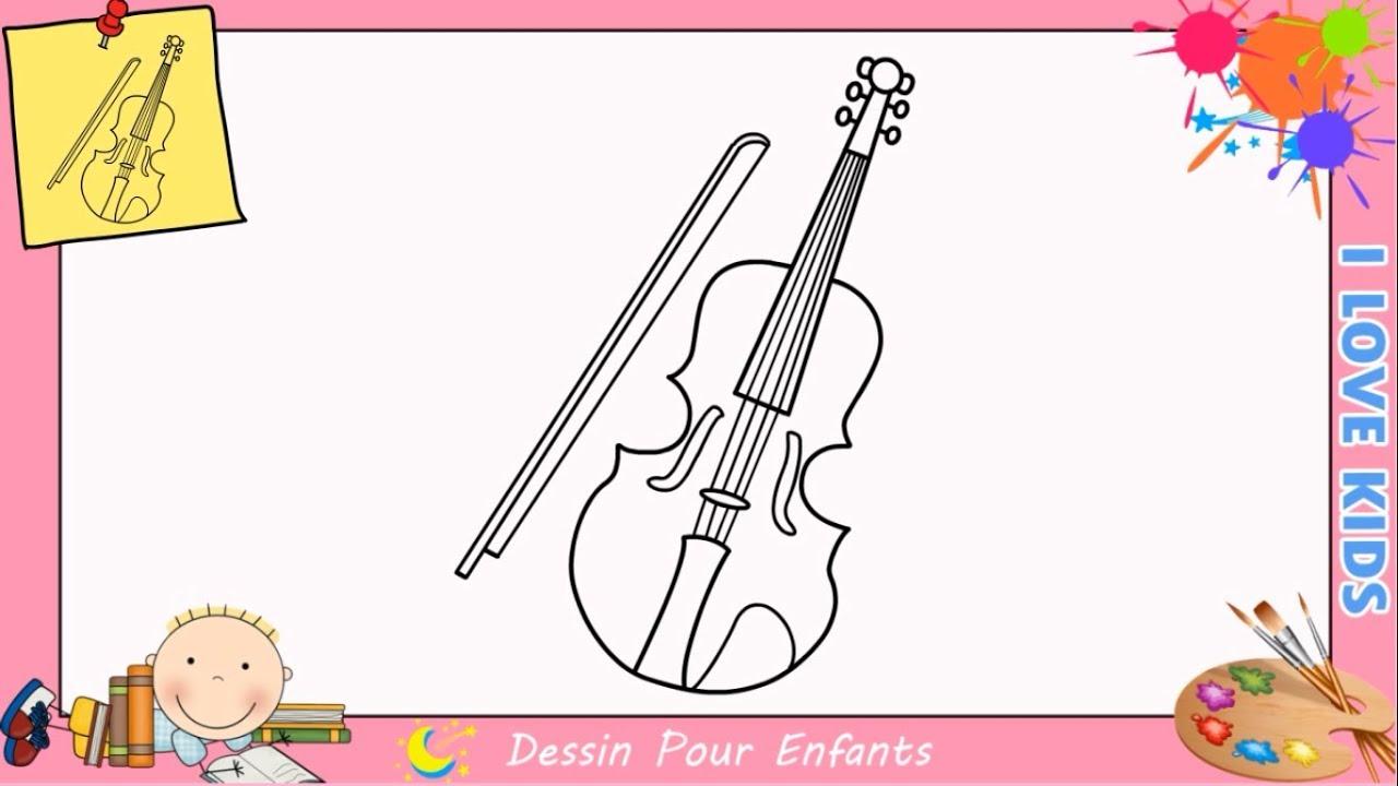 comment dessiner un violon facilement etape par etape pour. Black Bedroom Furniture Sets. Home Design Ideas