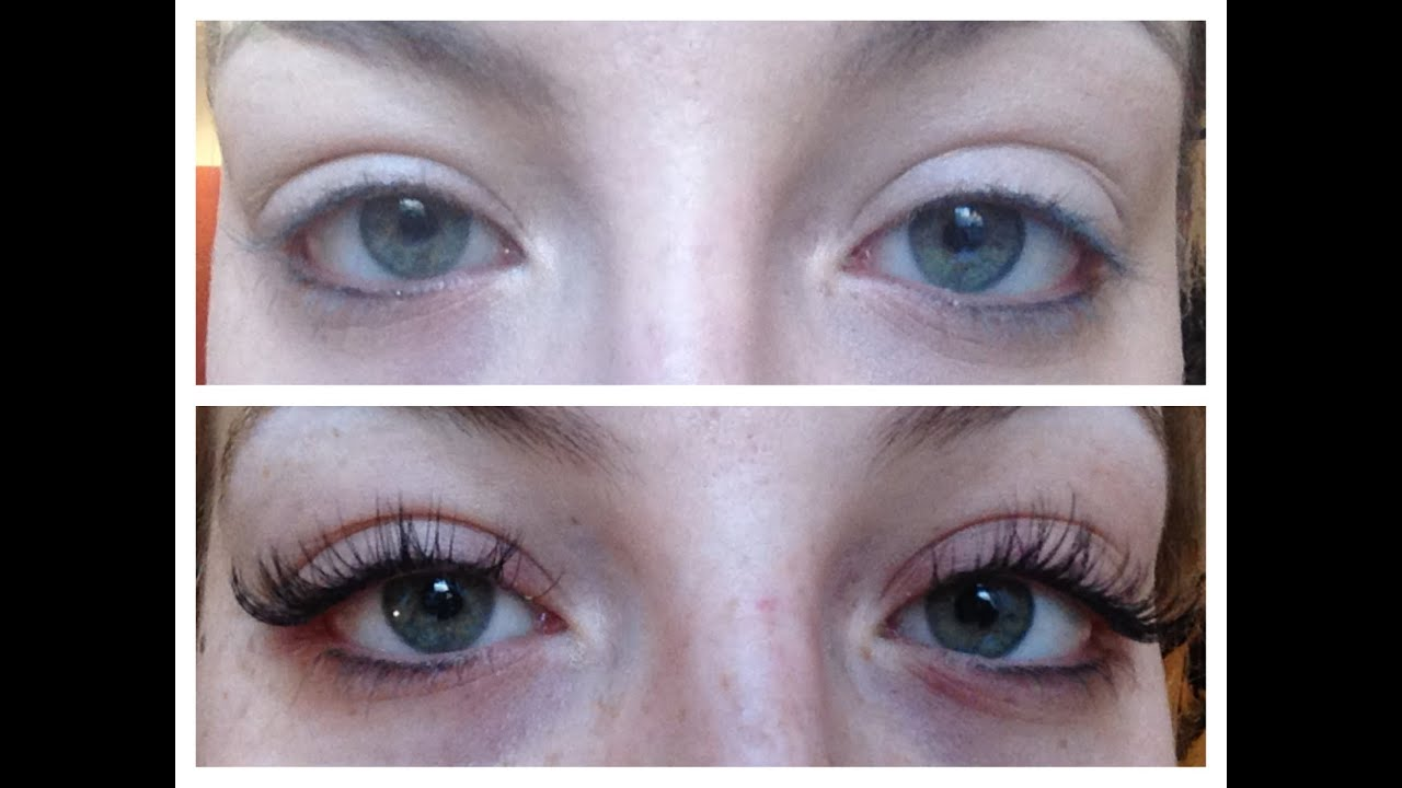 Eyelash Extensions Experience And Before And After Youtube