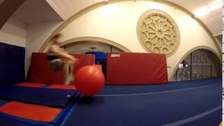 Man Backflips Off of Exercise Ball