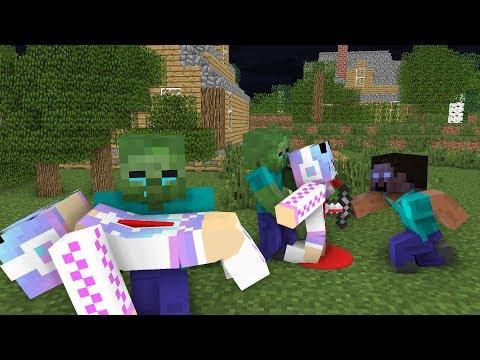 Monster School : RIP Cute Girl   Zombie Life 5 - Minecraft Animation