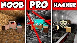 Minecraft NOOB vs PRO vs HACKER : PRISON ESCAPE CHALLENGE in Minecraft Animation!
