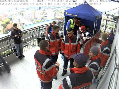 4. Berliner Firefighter Stairrun 2014 Webcam Ziel ab 12:05 Uhr