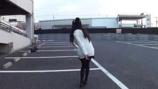 後姿にこだわって 女装 してみた(黒タイツVer) 【桜姫くらら】 Crossdress Black tights from the back thumbnail