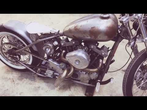 1979 Harley Ironhead Bobber - Cold Start and Walk Around