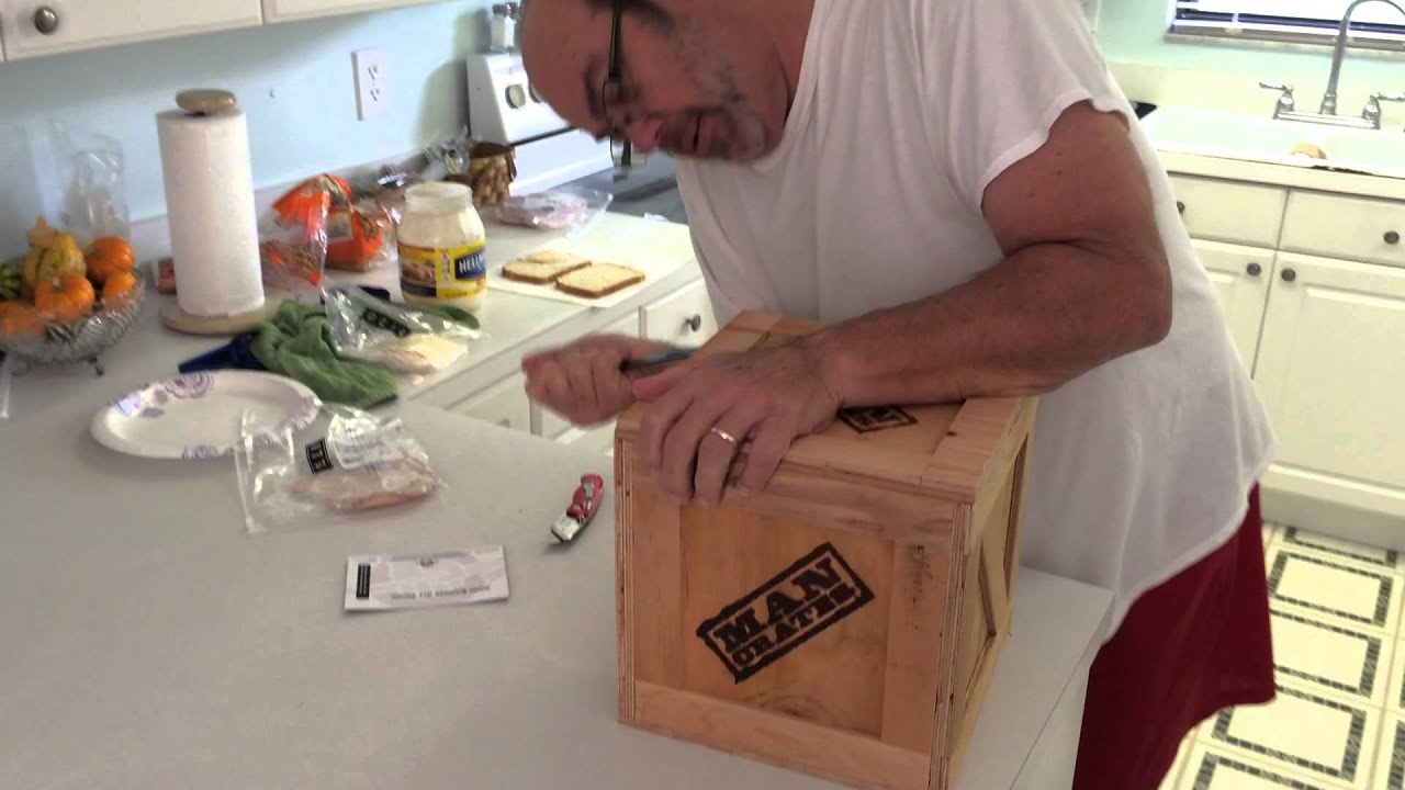 dad opening his man crate youtube