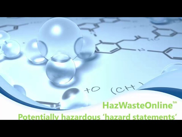 Dealing with 'potentially hazardous' outcomes in HazWasteOnline