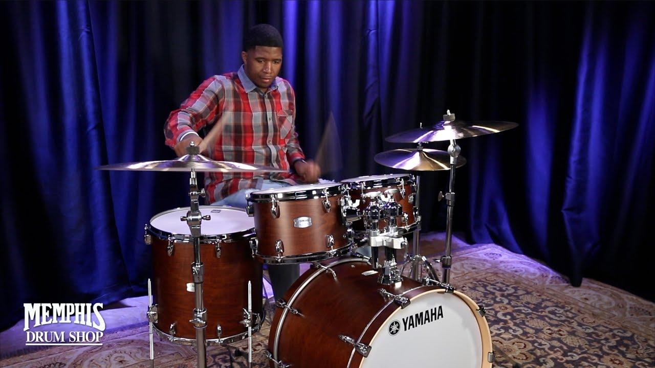 yamaha tour custom maple drum set 22 10 12 16 chocolate satin youtube. Black Bedroom Furniture Sets. Home Design Ideas