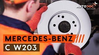 Montering Bromsbeläggsats fram och bak MERCEDES-BENZ C-CLASS: videoinstruktioner