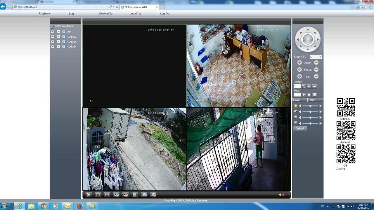 Hướng dẫn cái đặt camera quan sát xem qua mạng