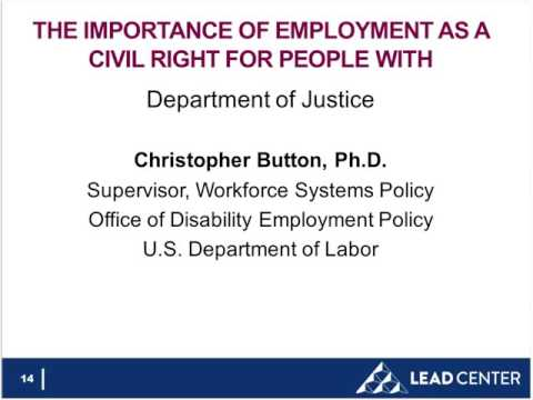 WEBINAR: Competitive Integrated Employment as a Civil Right for People with Disabilities