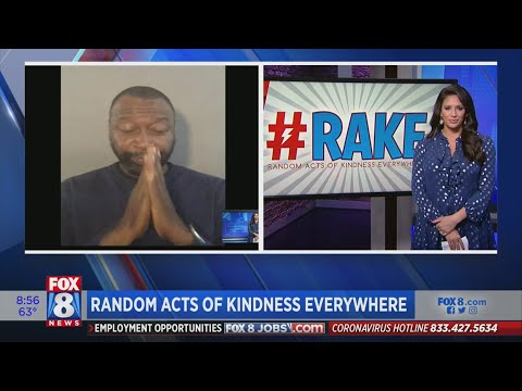 Lots of 'Random Acts of Kindness' seen in downtown Cleveland
