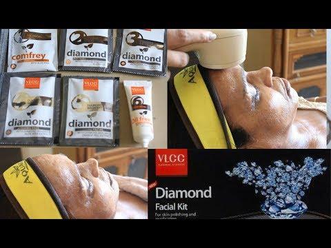 VLCC *Diamond Facial Kit* | How to do step by step facial at home | DIY Facial at home