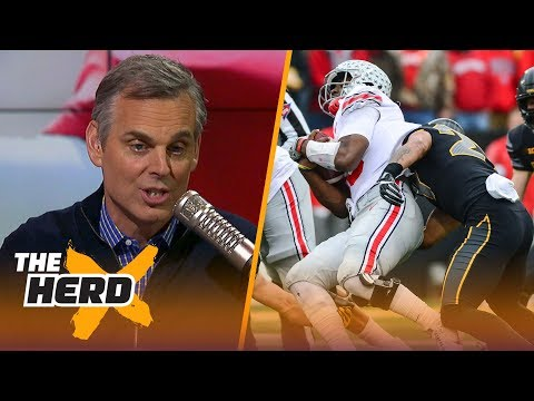 Colin Cowherd reacts to Iowa's 55-24 win against Ohio State during Week 10 | THE HERD