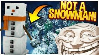 Minecraft Trolling: DISGUISING AS A SNOWMAN! (Minecraft Pranks EP114)