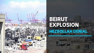 Militant group Hezbollah denies weapon stockpile at site of Beirut port explosion | ABC News