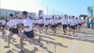 声援力に 松山中央高伝統のマラソン大会・愛媛新聞