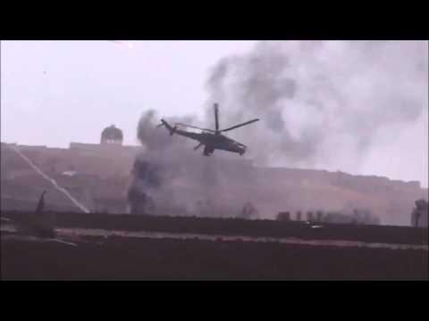 Mi 24 Helicopter Dodging Igla  Stinger Sam missiles in Syria   YouTube